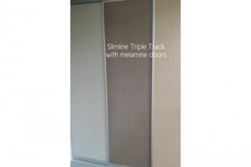 Slimline Melamine Sliding Robe Doors
