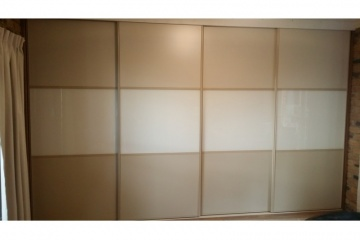 Multi Panel Split Melamine Opti Glass Sliding Door Set