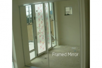 Framed Mirror Sliding Robe Door Set