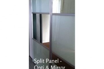 Split Panel OptiGlass Mirror Sliding Robe Door Set